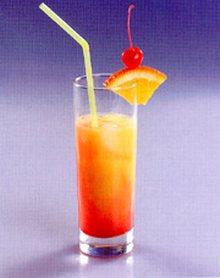 Tequila Sunrise cocktail - коктейль Восход Солнца